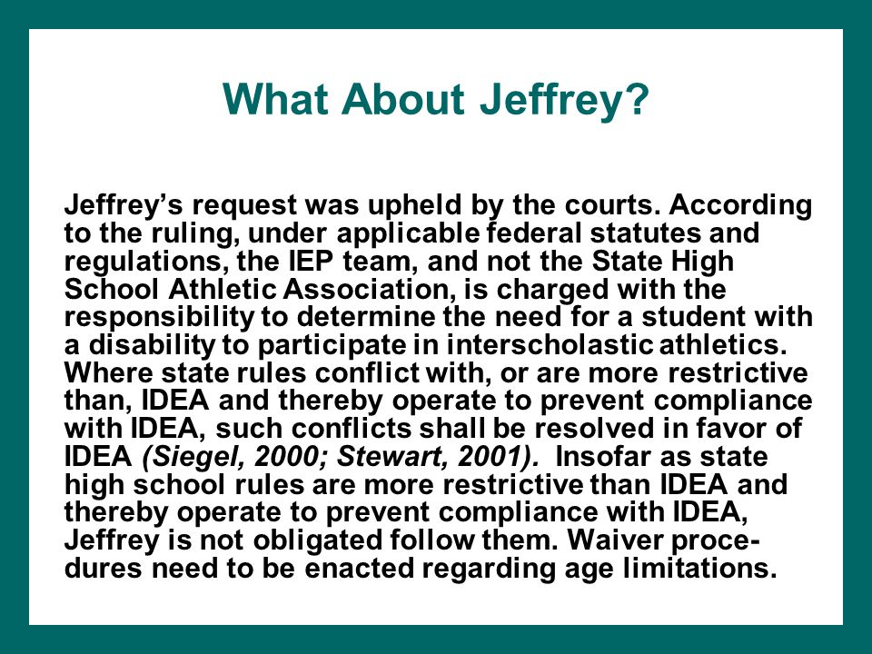 What About Jeffrey