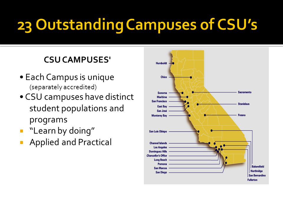 23 Outstanding Campuses of CSU's