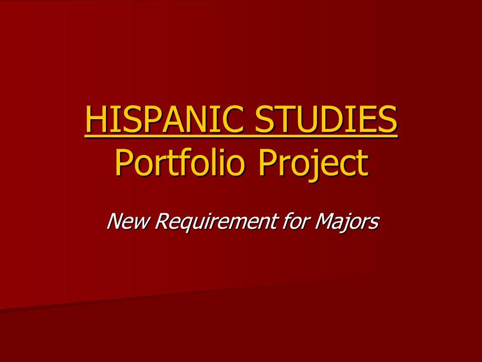 HISPANIC STUDIES Portfolio Project