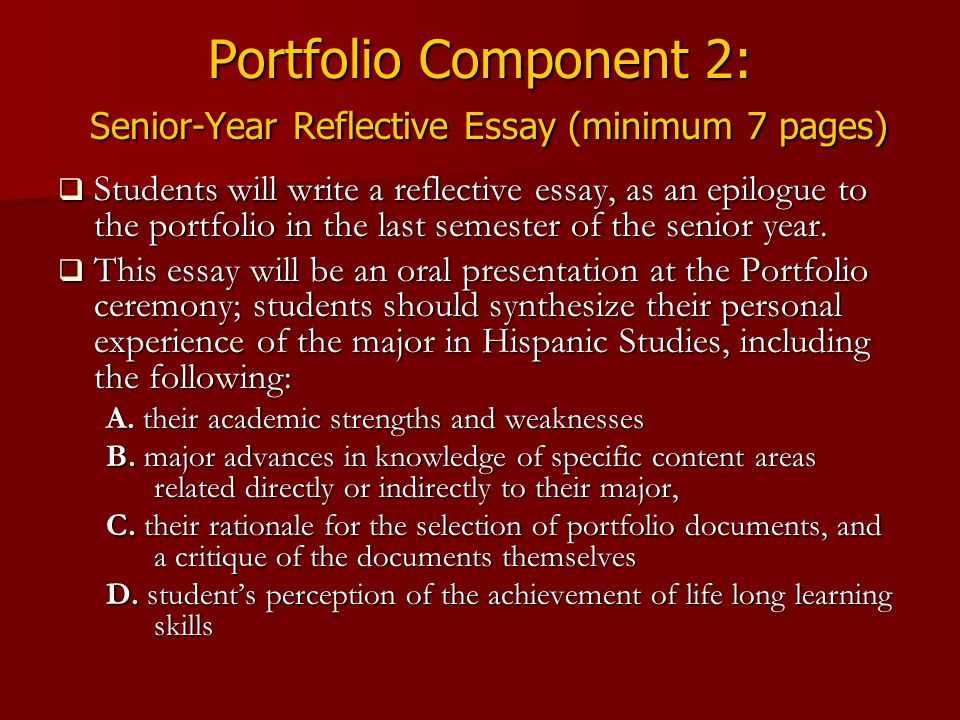 how to write a portfolio essay General guidelines components of a teaching portfolio sample teaching portfolios electronic teaching portfolios what role do essays, or creative works write.