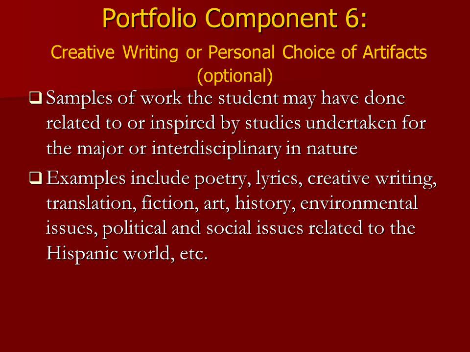 Creative Writing Sample Essays