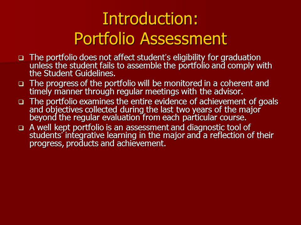 Introduction: Portfolio Assessment