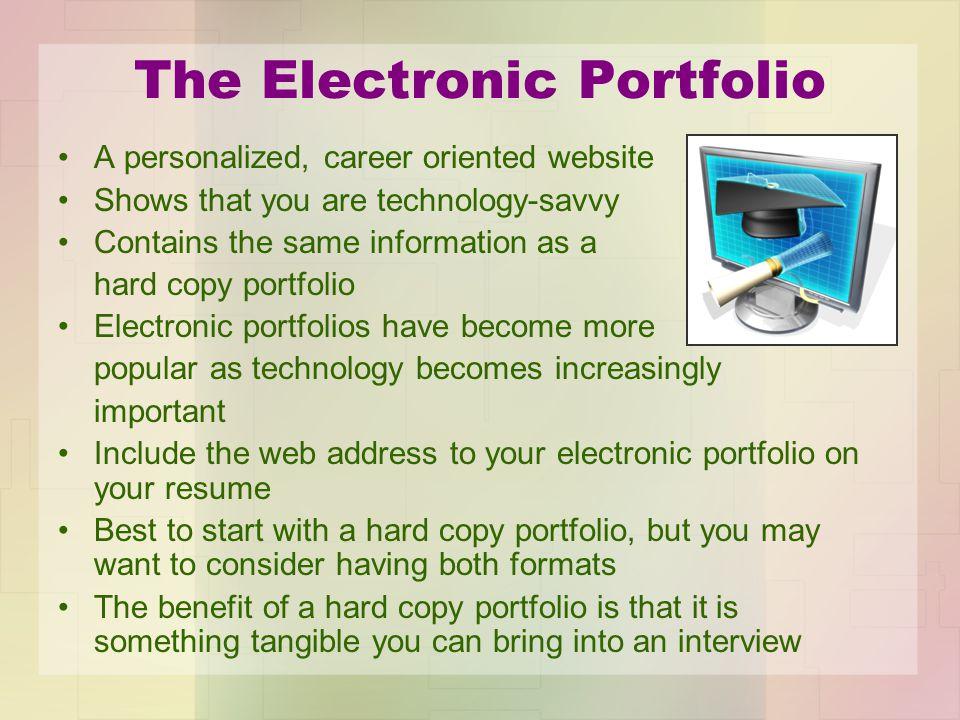 The Electronic Portfolio