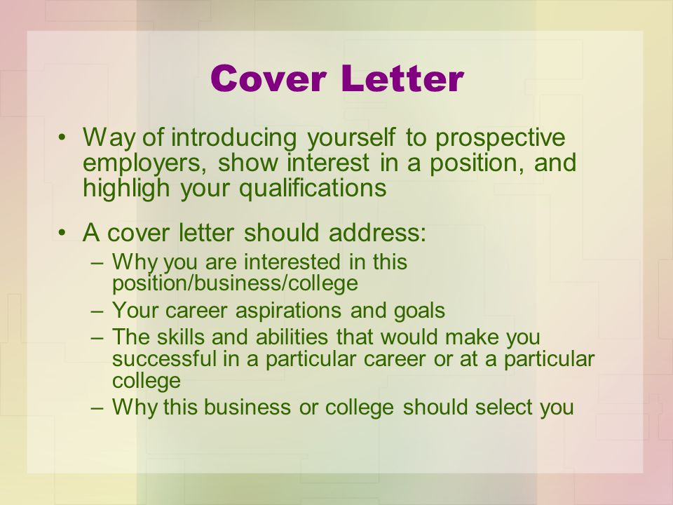 cover letter to show interest in job - career portfolio georgia gps standard fs ctae 10 career