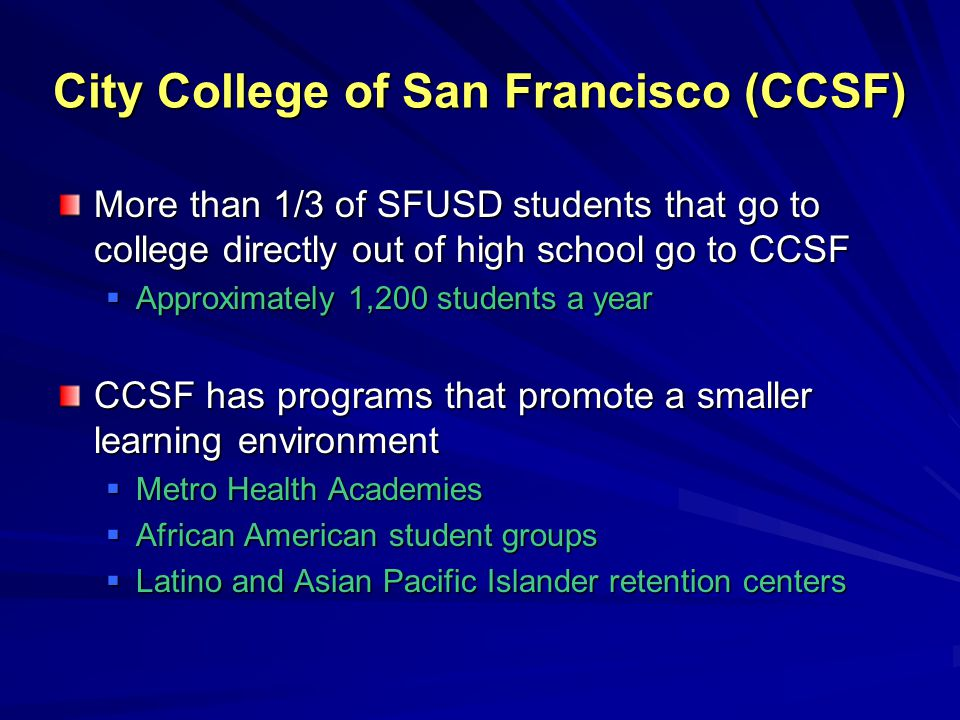 City College of San Francisco (CCSF)