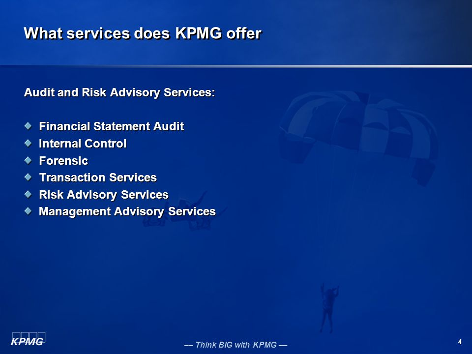 What services does KPMG offer