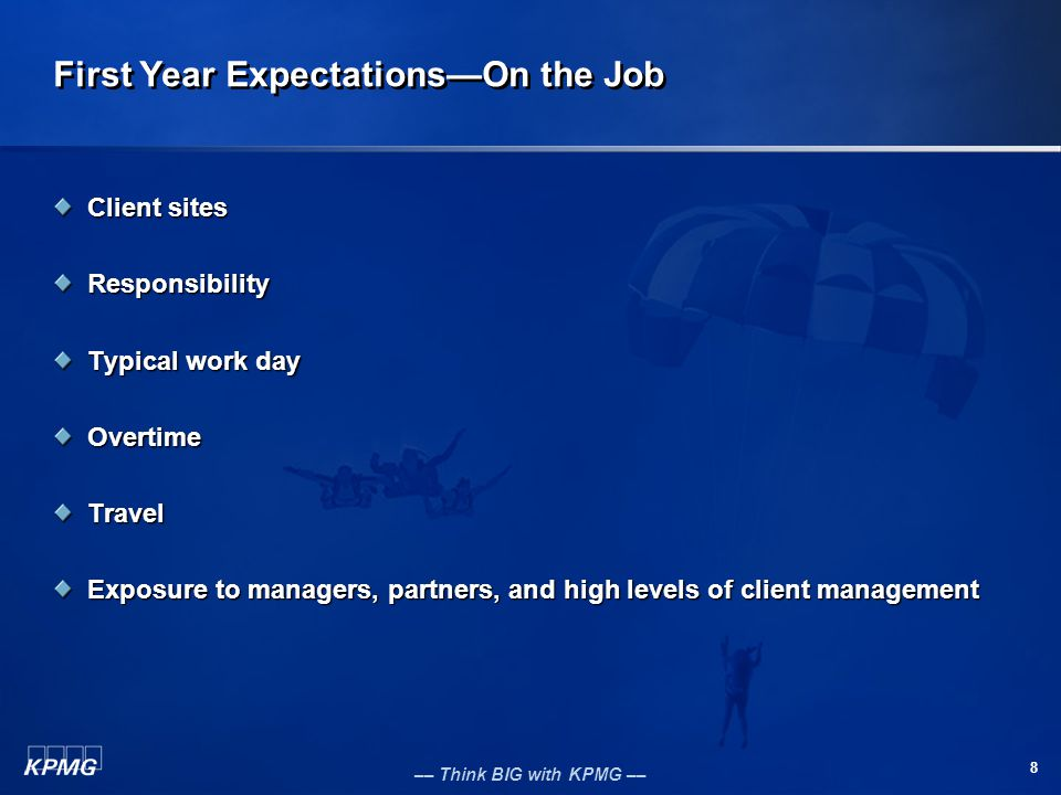 First Year Expectations—On the Job
