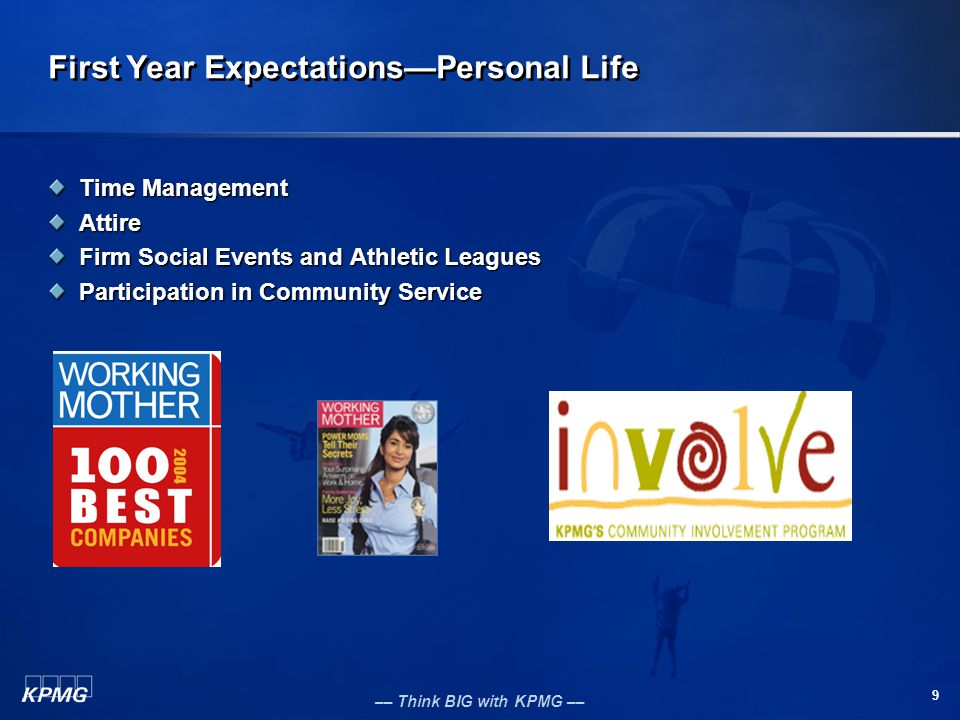 First Year Expectations—Personal Life