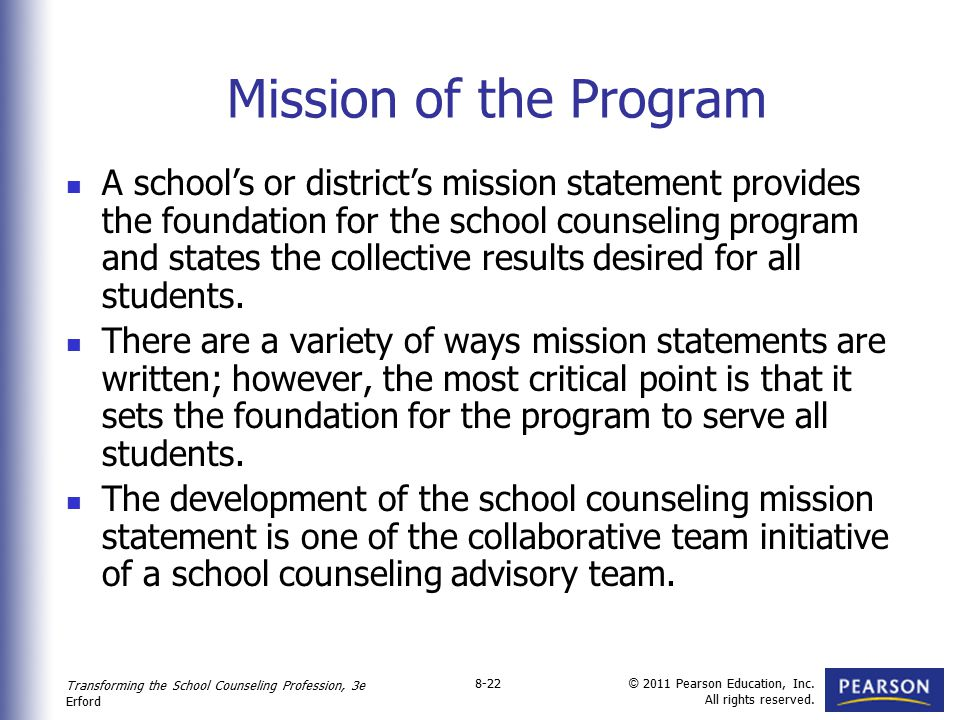 Mission of the Program