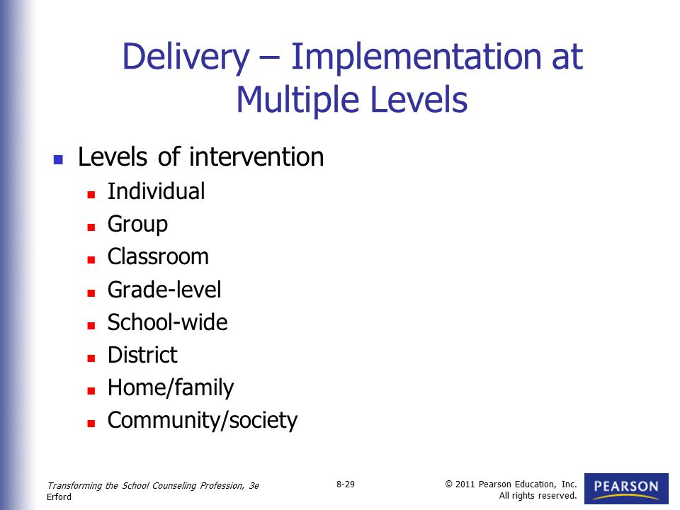 Delivery – Implementation at Multiple Levels