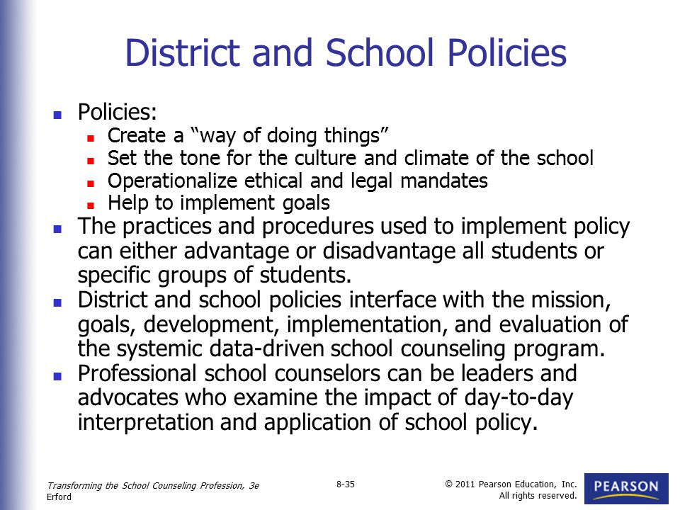 District and School Policies