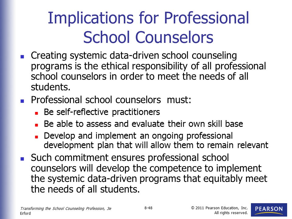Implications for Professional School Counselors