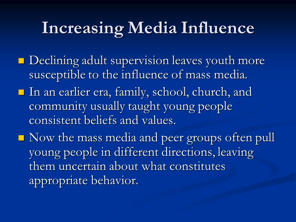 Increasing Media Influence