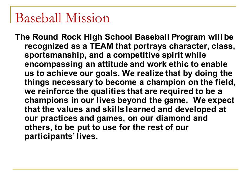 Baseball Mission