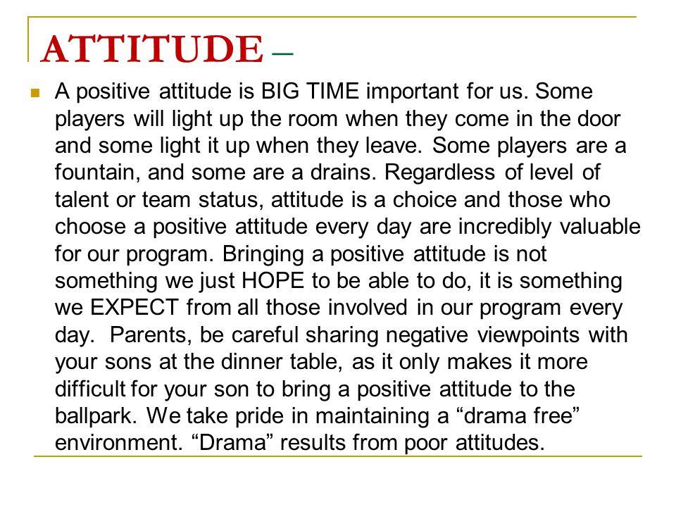 ATTITUDE –