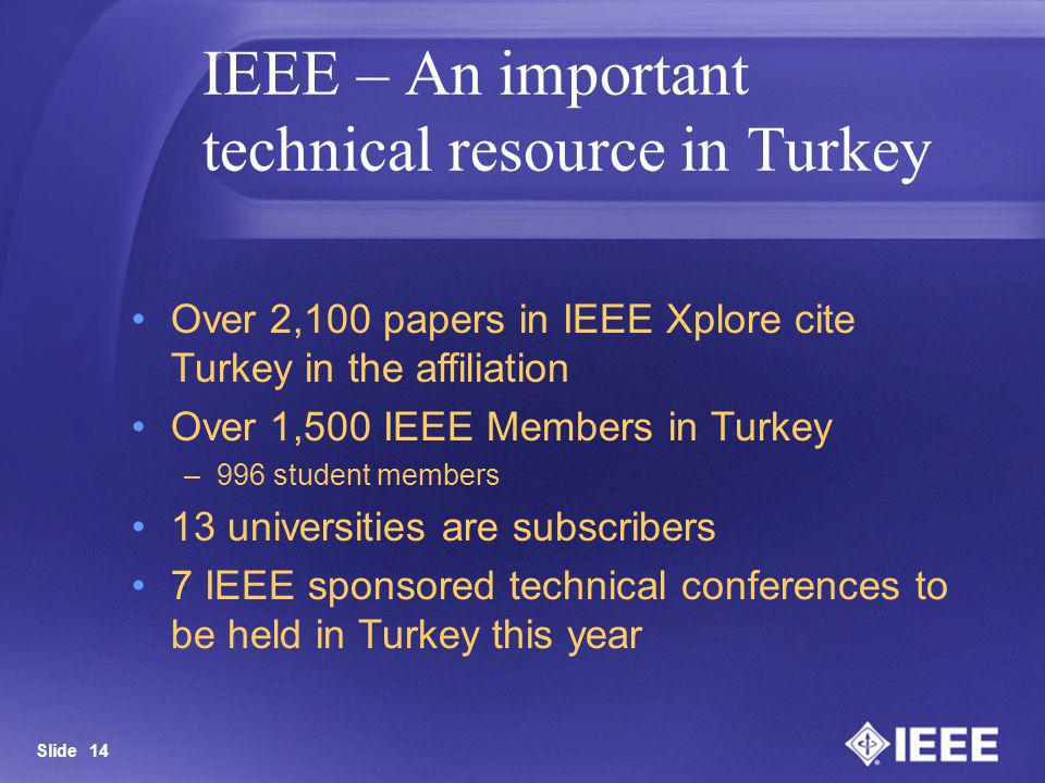 IEEE – An important technical resource in Turkey