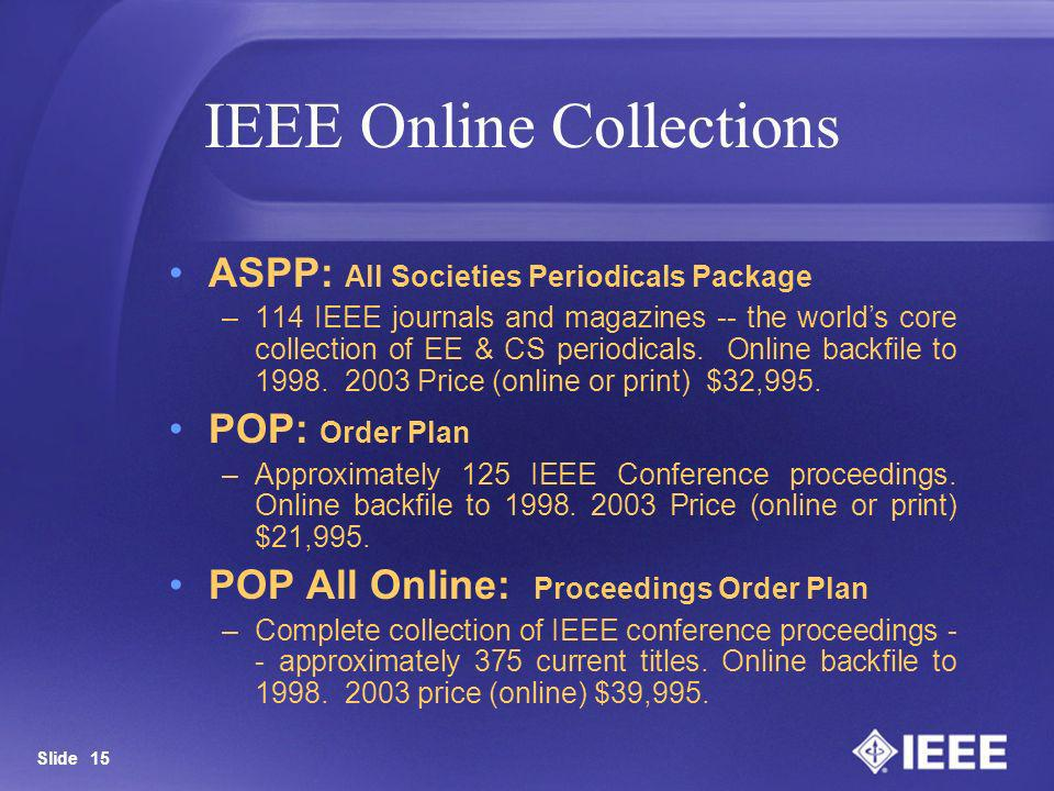 IEEE Online Collections