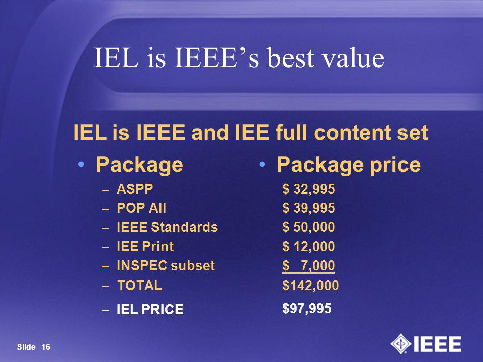IEL is IEEE's best value