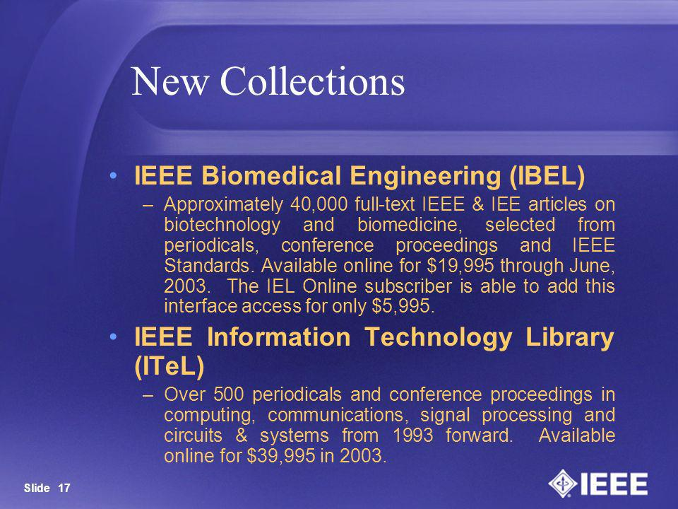 New Collections IEEE Biomedical Engineering (IBEL)