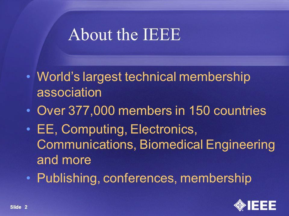 About the IEEE World's largest technical membership association
