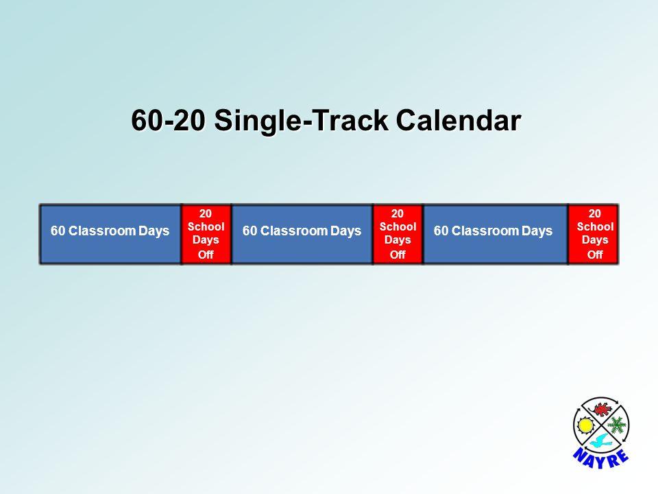 60-20 Single-Track Calendar