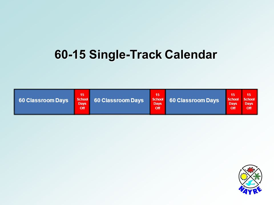 60-15 Single-Track Calendar