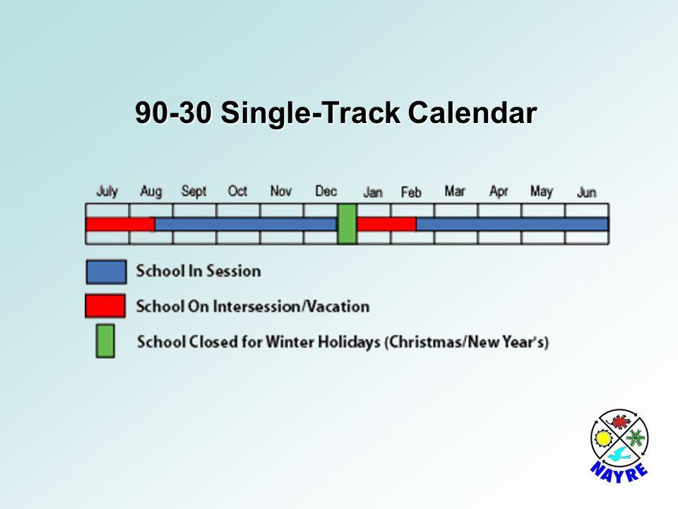 90-30 Single-Track Calendar