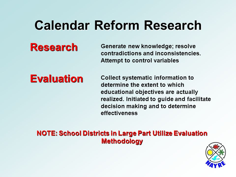 Calendar Reform Research