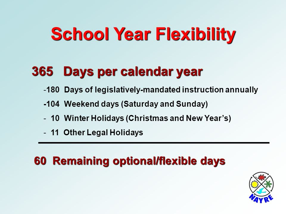 School Year Flexibility