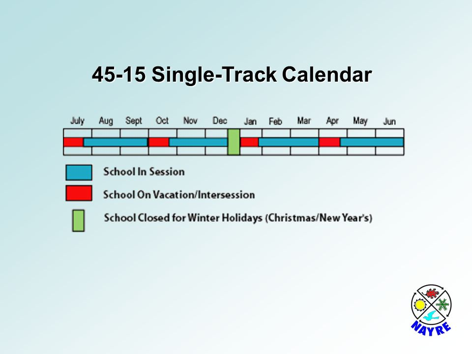 45-15 Single-Track Calendar