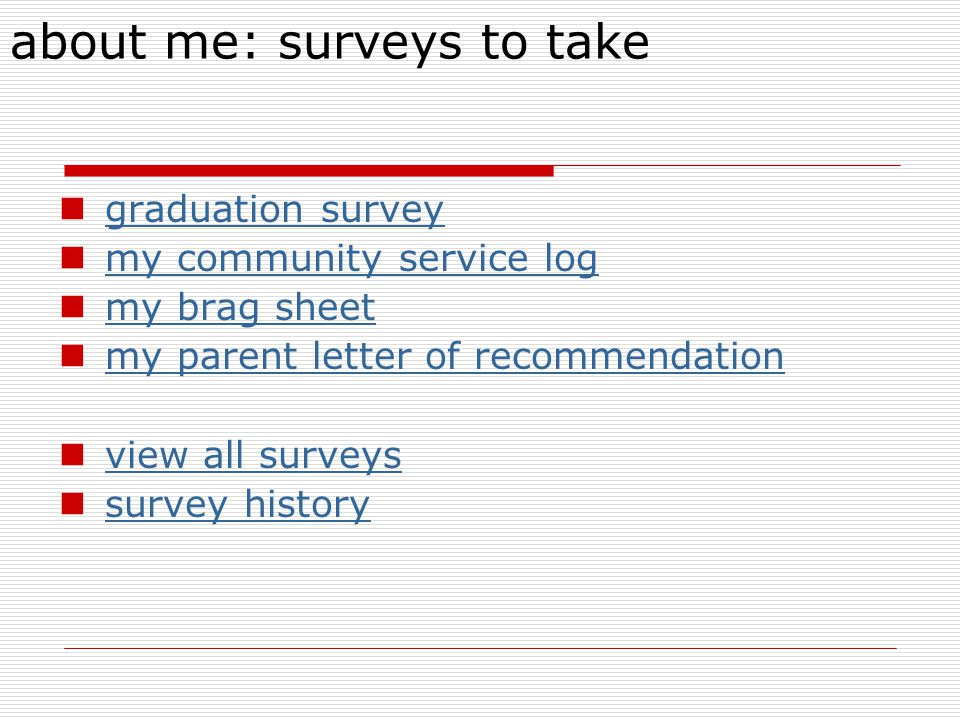 about me: surveys to take
