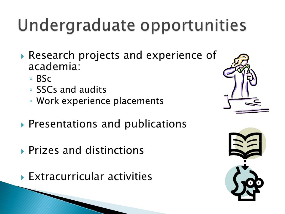 Undergraduate opportunities
