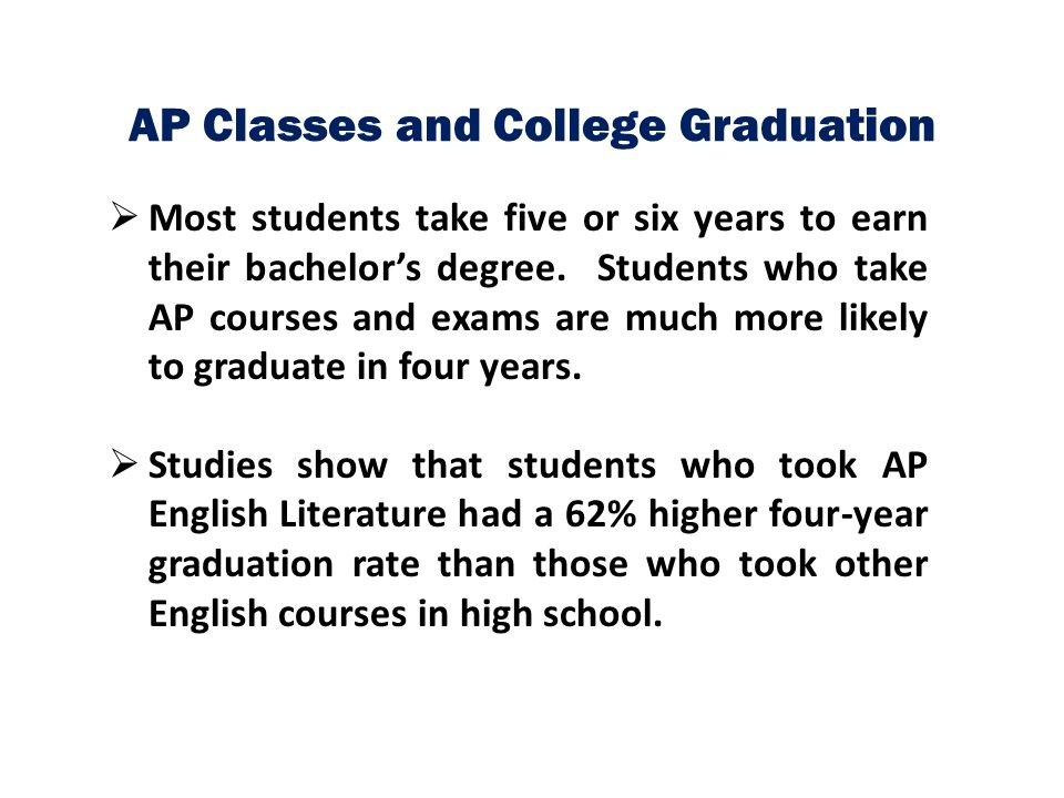 AP Classes and College Graduation
