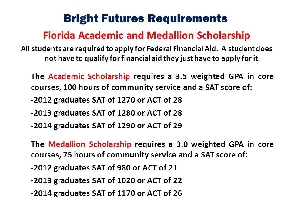 how to get bright futures scholarship
