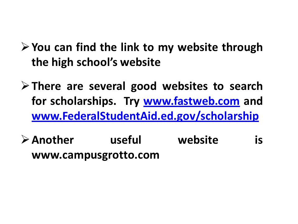 You can find the link to my website through the high school's website