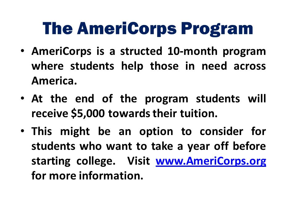 The AmeriCorps Program