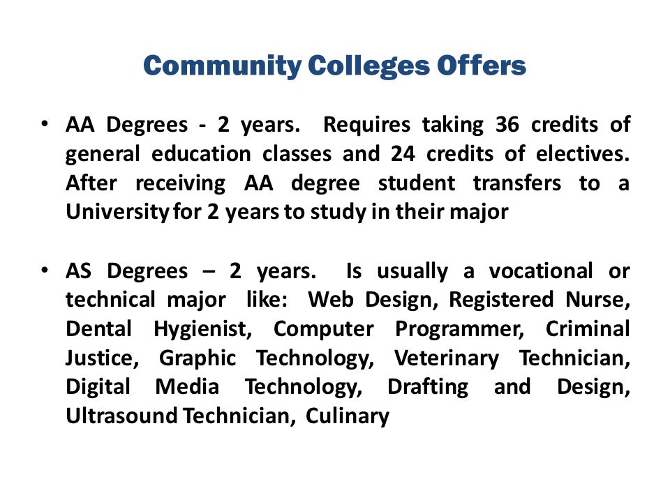 Community Colleges Offers