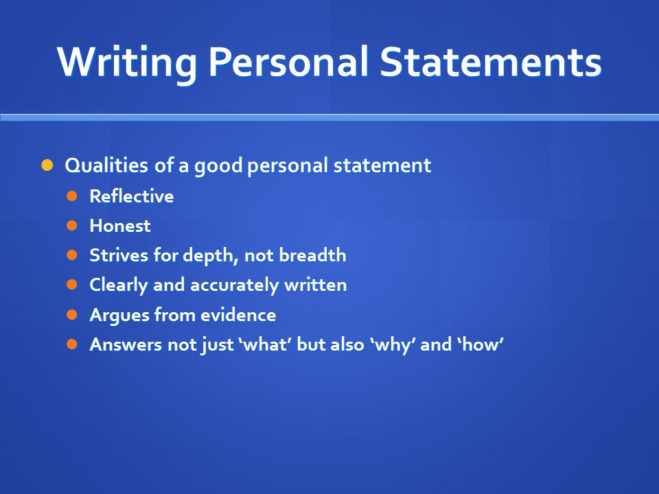 personal statement essay about yourself
