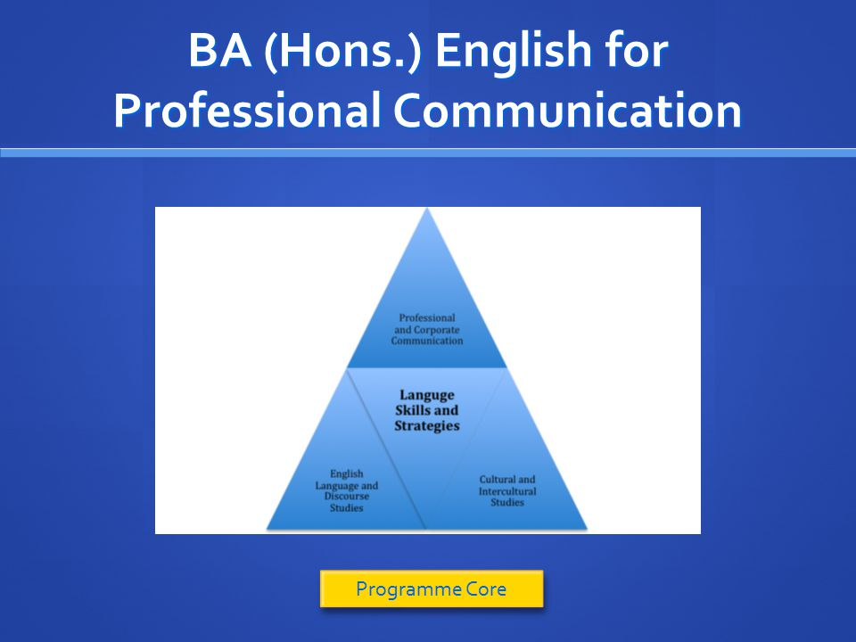 BA (Hons.) English for Professional Communication