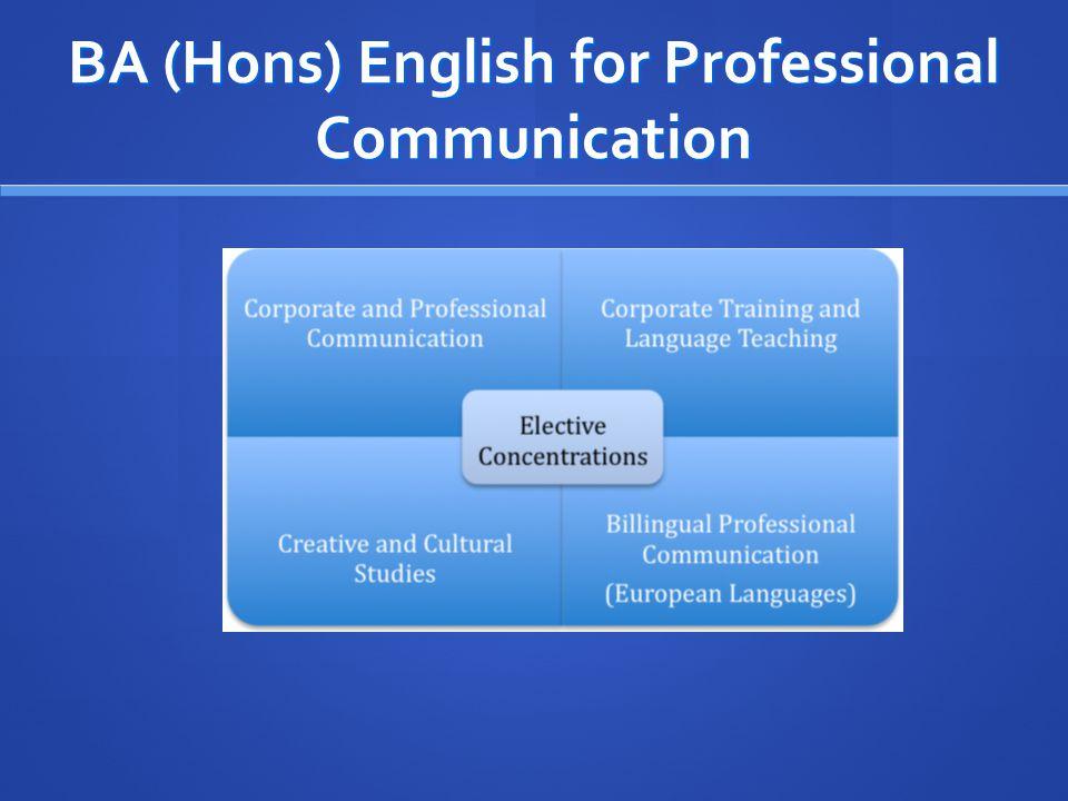 BA (Hons) English for Professional Communication