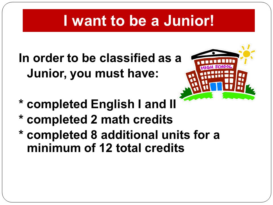 I want to be a Junior!