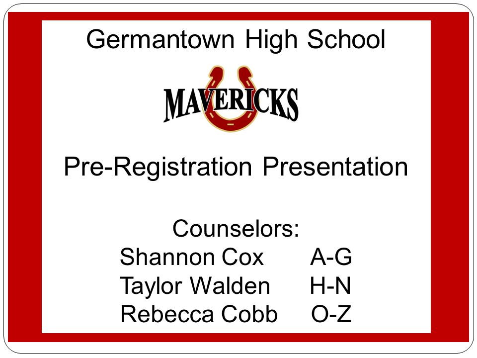 Germantown High School Student Services