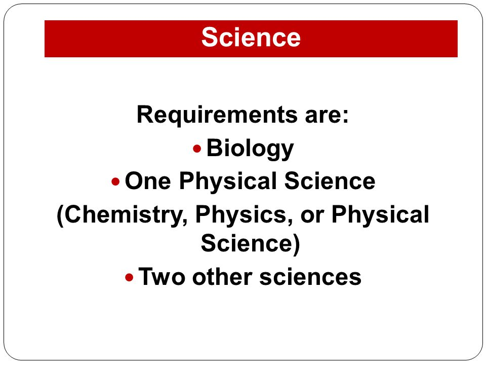 (Chemistry, Physics, or Physical Science)