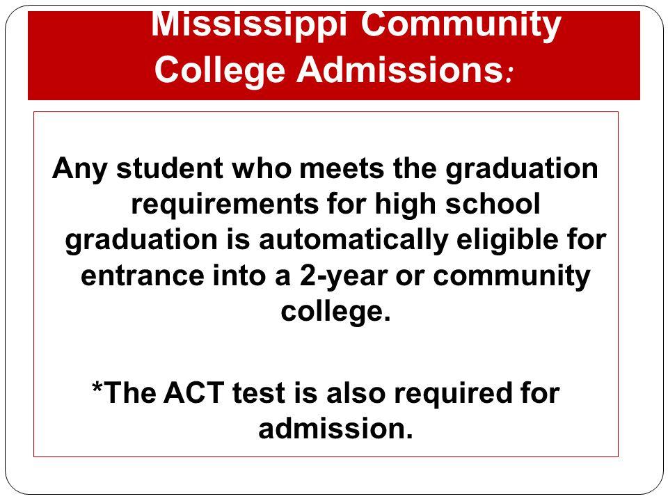 Mississippi Community College Admissions: