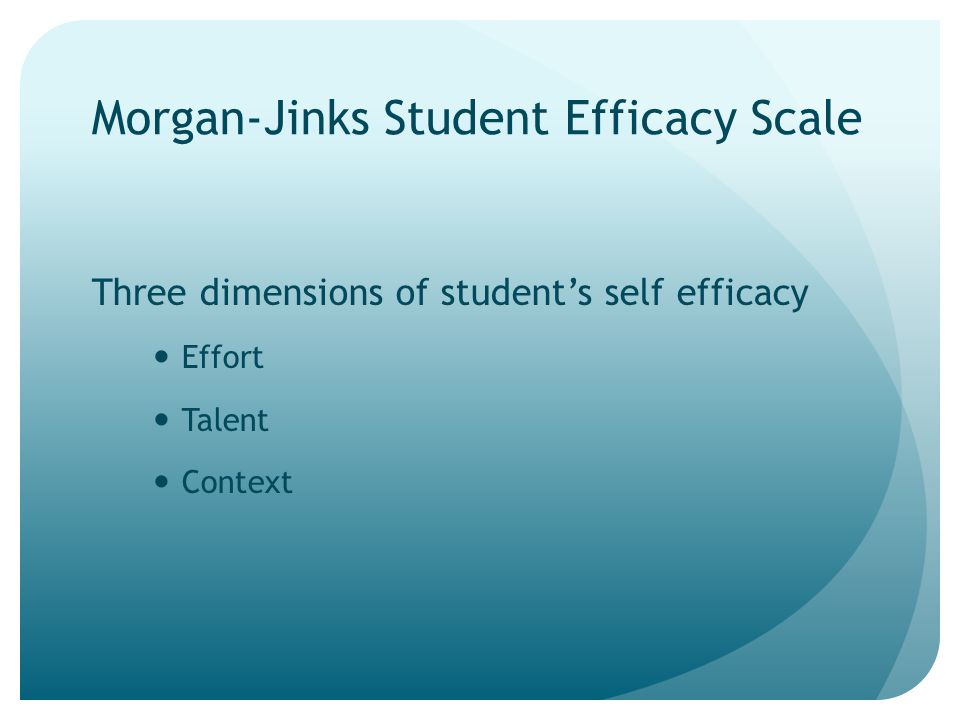 Morgan-Jinks Student Efficacy Scale