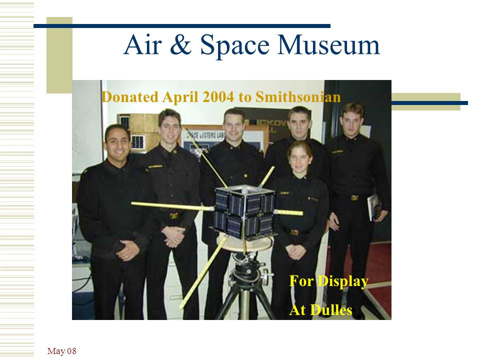 Air & Space Museum Donated April 2004 to Smithsonian For Display
