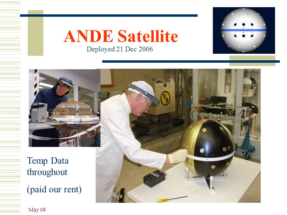 ANDE Satellite Temp Data throughout (paid our rent)