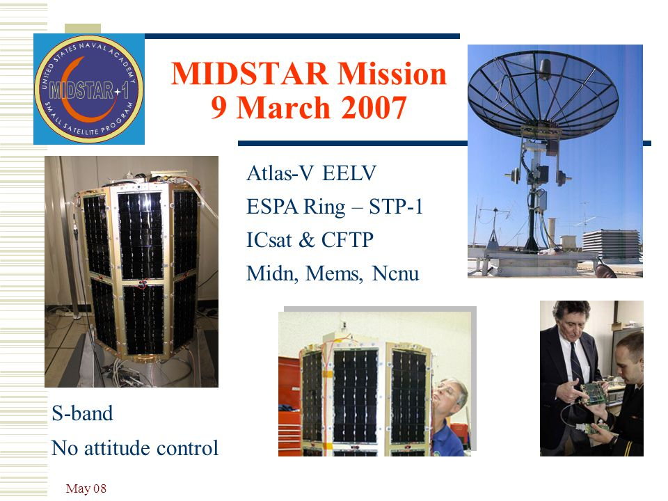 MIDSTAR Mission 9 March 2007 Atlas-V EELV ESPA Ring – STP-1