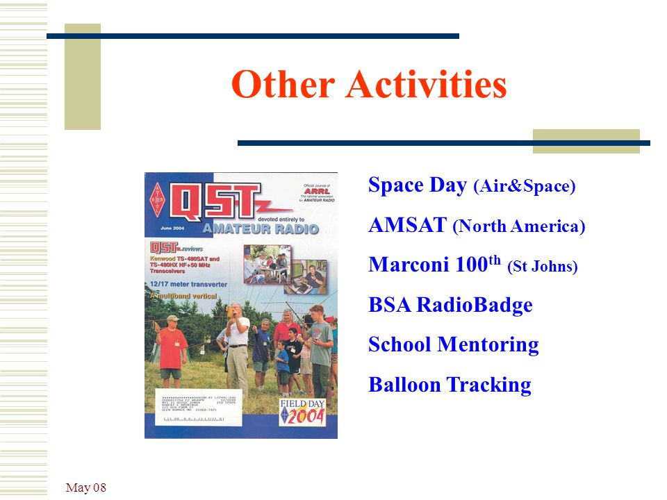 Other Activities Space Day (Air&Space) AMSAT (North America)