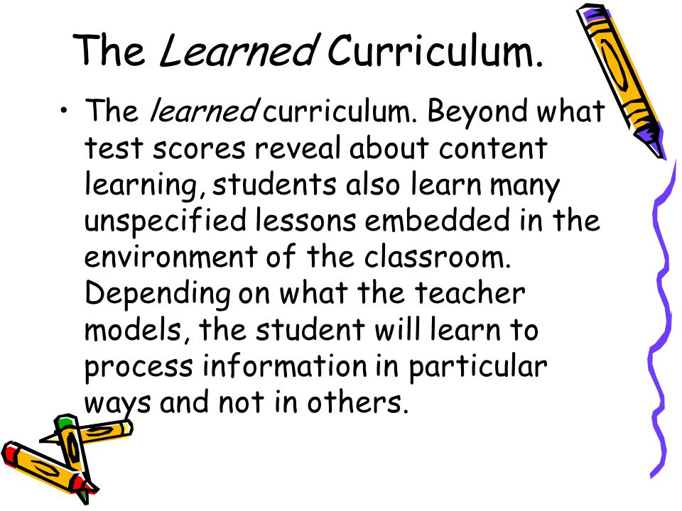 The Learned Curriculum.